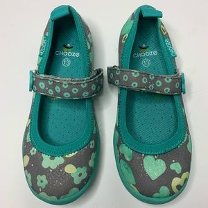 Chooze Jump Blossom Mary Janes Size 13 Girls